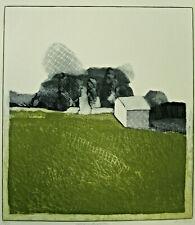"""Linda Plotkin Lithograph """"Calvaire de Pierre"""" Landscape 18"""" x 20"""" 13/75"""