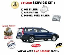 FOR VOLVO XC70 2.4D 163bhp D5244T2 2002->NEW OIL AIR FUEL 3 FILTER SERVICE KIT