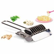 Docker Dough Stainless Steel Noodle Cutter Tool Lattice Roller Spaghetti Maker