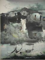 CHINESE PAINTING HANGING SCROLL LANDSCAPE CHINA VINTAGE OLD PICTURE 870m