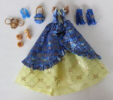 Ever After High Blondie Thronecoming Doll Outfit Dress Shoes Bracelets Purse