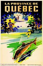 La Province de Quebec Canada Vintage Canadian Travel Advertisement Art Poster