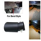 62Mm Stainless Steel Bend Muffler Tip Tail Throat Matte Black Car Exhaust Pipe