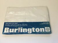Vintage Burlington Percale Sheet Twin Size Flat White Made In The USA