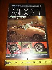 1971 MG MIDGET - ORIGINAL VINTAGE AD