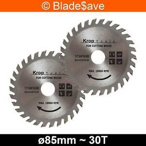 Worx Worxsaw Circular Saw Blade Fine Cut TCT 85mm x 15mm x 30T by KROP (2 Pack)