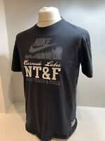 Mens Navy Blue Nike Track And Field Cascade Lakes T-shirt Size XL RARE