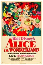 "WALT DISNEY'S ALICE IN WONDERLAND POSTER 12"" x 18"""