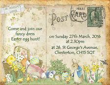 4 X Beatrix Potter Peter Rabbit Personalised Easter Invitations & Envelopes