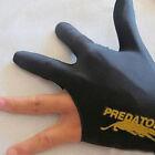 Black Spandex Snooker Billiard Cue Glove Pool Left Hand Three Finger Accessory