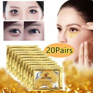40pcs 24K Crystal Collagen Gold Powder Eye Mask Patch Anti Aging Christmas Gift