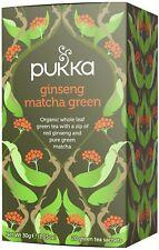 Pukka Ginseng Matcha Green 20 Tea Bags