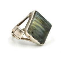 Large Labradorite Sterling Silver Ring