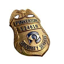 vintage Pinkerton Security Services Badge #124010