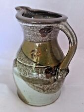 Mill Creek Glazed Pottery Stoneware Hand-Made Water Pitcher Spout Artist Signed