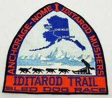 "RARE Vintage ALASKA IDITAROD ""Trail Cachet"" Patch circa 1993 Dog Sled Race 9""x9"""