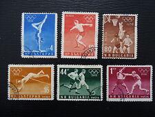 Bulgarien Mi 996-1001 , Olympische Sommerspiele Melbourne , Gestempelt