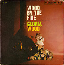 "GLORIA WOOD ""WOOD BY THE FIRE"" VOCAL JAZZ 50'S LP !  COLUMBIA CL 1286"