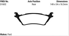 EBC Orange Brake Pad Set Rear for 2012-2015 Ford F-150 # ED91891