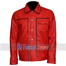 Men's Fashion Elvis Presley Red Real Leather Jacket | All Size Available