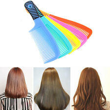 Plastic Wide Tooth Shower Comb Handle Wet Haircut Hairdressing Hairstyle Tool