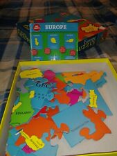GeoToys Europe GeoPuzzle, 58 Country Shaped Pieces Good Used Condition Free Ship