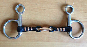 """Hanging Cheek Sweet Iron Snaffle With Raised Copper Ribs - 4.5"""", 5"""", 5.5"""" or 6"""""""