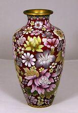 "Cloisonne Vase   ""Thousand Flowers""...Monochromatic  (10.5"" high)"