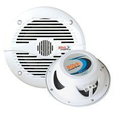 """Boss Audio MR60W 6.5"""" Round White Marine Speakers"""