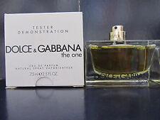 Dolce & Gabbana The One Women Perfume 2.5 oz Eau de Parfum Spray Tester New