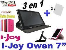 "FUNDA PARA TABLET i-joy OWEN 7"" FUNCION STAND LIBRO + 2 Protectores PANTALLA"