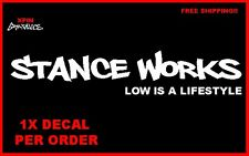Stance Works Decal sticker JDM sticker vw si sti Simply Clean low is a lifestyle