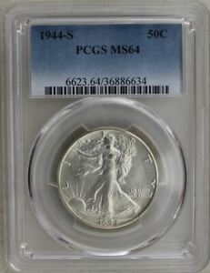 1944-S Half Dollar PCGS MS64