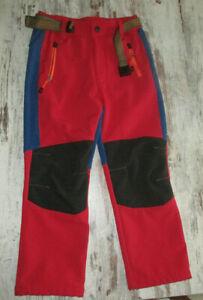 Kinderhose Softshellhose Regenhose mit Gürtel Gr. 122/128 wie neu