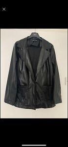 Faux Leather Oversized Blazer