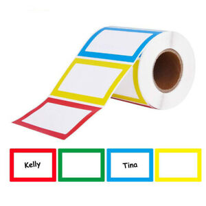 150Pcs Name Tag Labels Adhesive Sticker Organizer Labels Sticker Packaging-Label