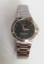 Ladies Movado One Main Financial Stainless Steel 11523555 Wristwatch Sapphire Cr