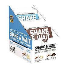 Scitec Nutrition Shake & Wait 550 G Weight Loss Shake & Pudding 10x55g NOUVEAU NOUVEAU
