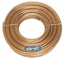DNF Clear Flex 16 Gauge Speaker Wire Home Car Audio 50 Feet - SHIPS FREE TODAY!