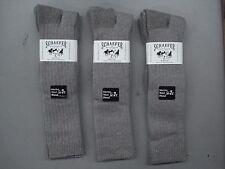 USA Schaefer Ranchwear Merino Wool OTC Boot Socks 3 Pair Size 10-13 Taupe #929C