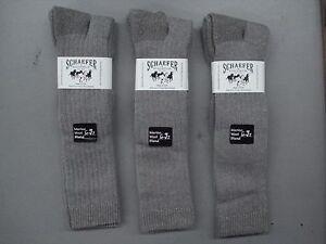 USA Schaefer Ranchwear Merino Wool OTC Boot Socks 3 Pair Size 9-11 Taupe #930C