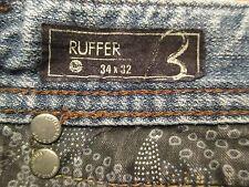 AUTH BUFFALO DAVID BITTON RUFFER STRAIGHT LEG MEN JEANS SZ 34 X 30.5 VIC-THOR1