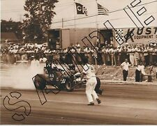 Vintage B&W Drag Race photo 60 Detroit Chassis Research Otie's Automotive art