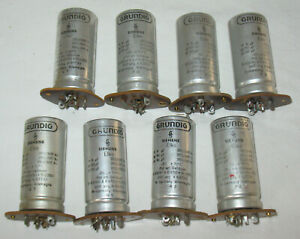 8 vintage High Voltage Capacitor 2x 50µF 8uF for Tube Amp Grundig by Siemens 5