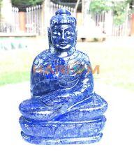"6"" Lapis Lazuli Gemstones Marble Buddha Hand Carved Sculpture Spirituality Gifts"