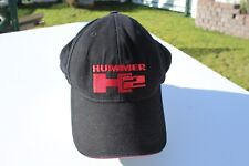 Ball Cap Hat - Hummer - H2 - Black with Red Front Edge (H1769)