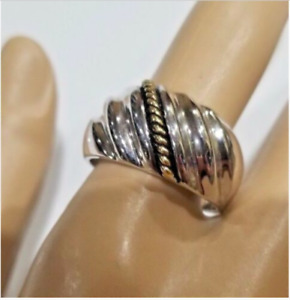 Cocktail Band Ring Size 11 Fashion Jewelry silver gold plated