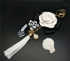 Camelia Hassle Key Chain Chanel Style