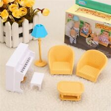 Furniture Set Happy Family Sofa Chair Piano Dolls Sylvanian Families