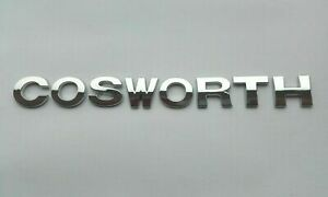 New Chrome 3D Self-adhesive Car Letter badge emblem sticker Spelling COSWORTH